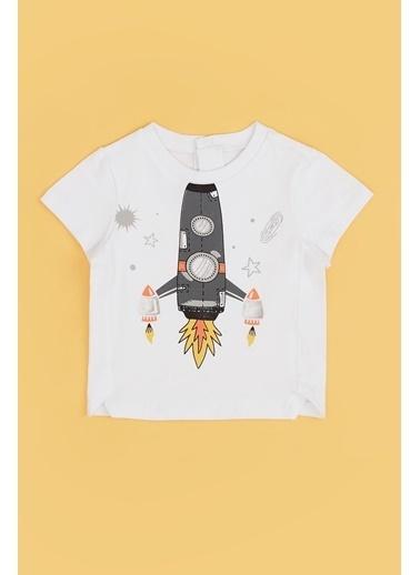 BG Baby Erkek Bebek Beyaz T-Shirt 20Pfwbg1502 Beyaz